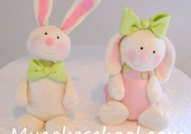 These CUTE gum paste bunnies are perfect for early birthdays and Easter cakes! From My Cake School's member cake video section! Online Cake Classes & Recipes!