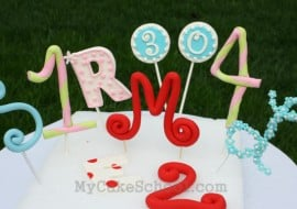 Learn to Make Number and Letter Cake Toppers in this MyCakeSchool.com Cake Decorating Video Tutorial!