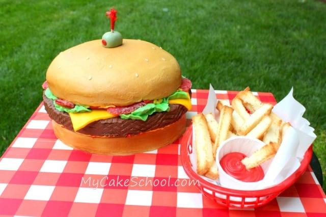 Cheeseburger Cake- Member Video Tutorial