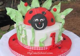 Too Cute! An adorable ladybug cake decorating video tutorial by MyCakeSchool.com!