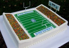 Learn how to make a football stadium cake in this MyCakeSchool.com video!