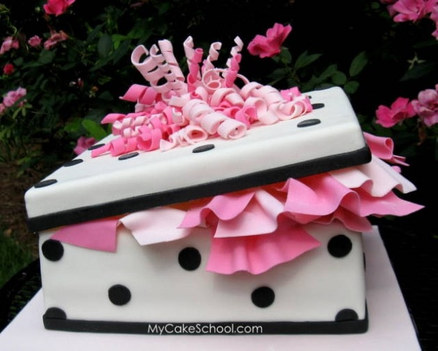 Learn to Make a Gift Cake! A Cake Decorating Video Tutorial by My Cake School!