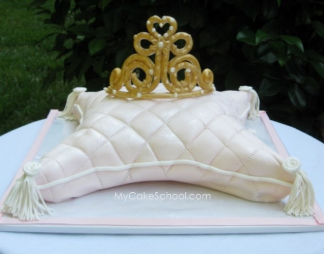 Princess Pillow Cake Images : Pillow Cake (for Princess Tiara) My Cake School