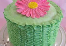 Vertical Ruffles of Buttercream! A My Cake School cake decorating video tutorial!
