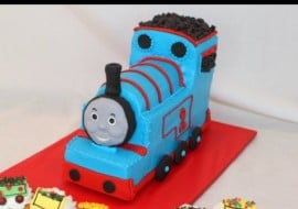Learn how to make a carved tank engine cake in this My Cake School video tutorial!