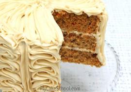 Carrot Cake- Doctored Mix Recipe by MyCakeSchool.com