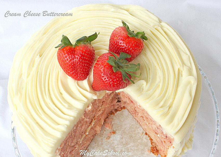 You will love this delicious Cream Cheese Buttercream Frosting Recipe! My Cake School.