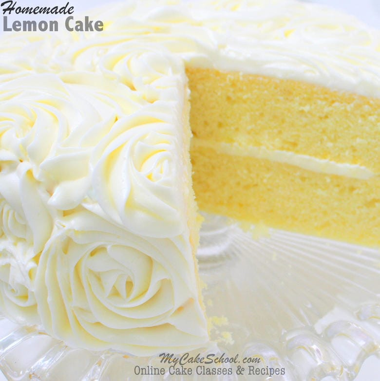 Delicious Lemon Cake Recipe from Scratch by MyCakeSchool.com! Cake Recipes, Online Cake Tutorials, Videos, and more!