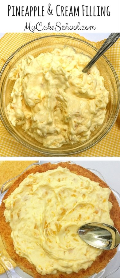 Easy and Delicious Pineapple and Cream Filling Recipe by MyCakeSchool.com! This recipe is DELISH!