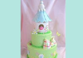 Tiered Birdhouse Cake Tutorial