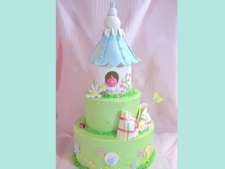 Tiered Birdhouse Cake Tutorial