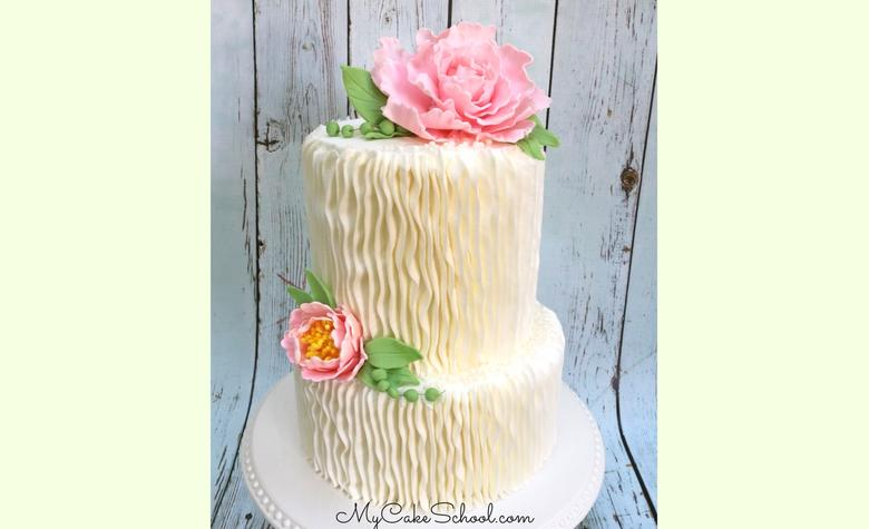 Learn how to make a Gum Paste Peony in this member cake video tutorial by MyCakeSchool.com