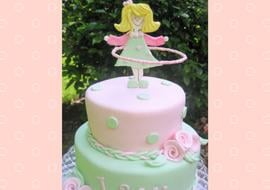 Hula Hoop Girl Cake Tutorial by MyCakeSchool.com
