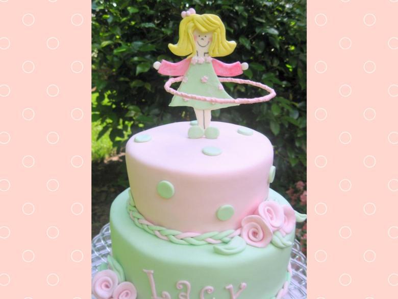 Hula Hoop Girl Cake Tutorial by MyCakeSchool.com