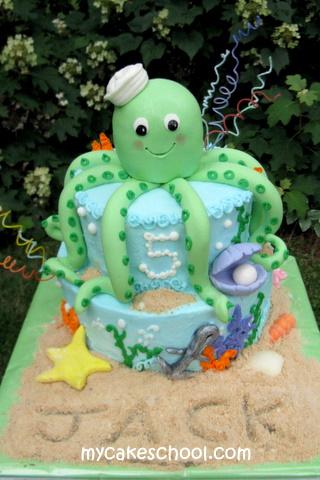 Sweet Octopus Cake Blog Tutorial by MyCakeSchool.com!