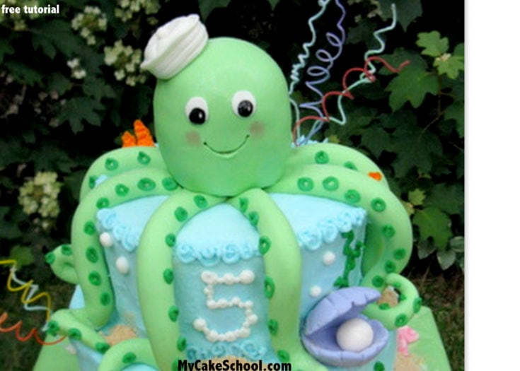 Octopus Cake Tutorial! Free Blog Tutorial
