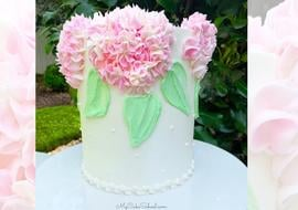 Easy Buttercream Hydrangea Cake Tutorial