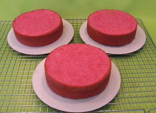 Beautiful Buttercream Ruffle Cake and Pink Velvet Cake! Free Cake Tutorial by MyCakeSchool.com!