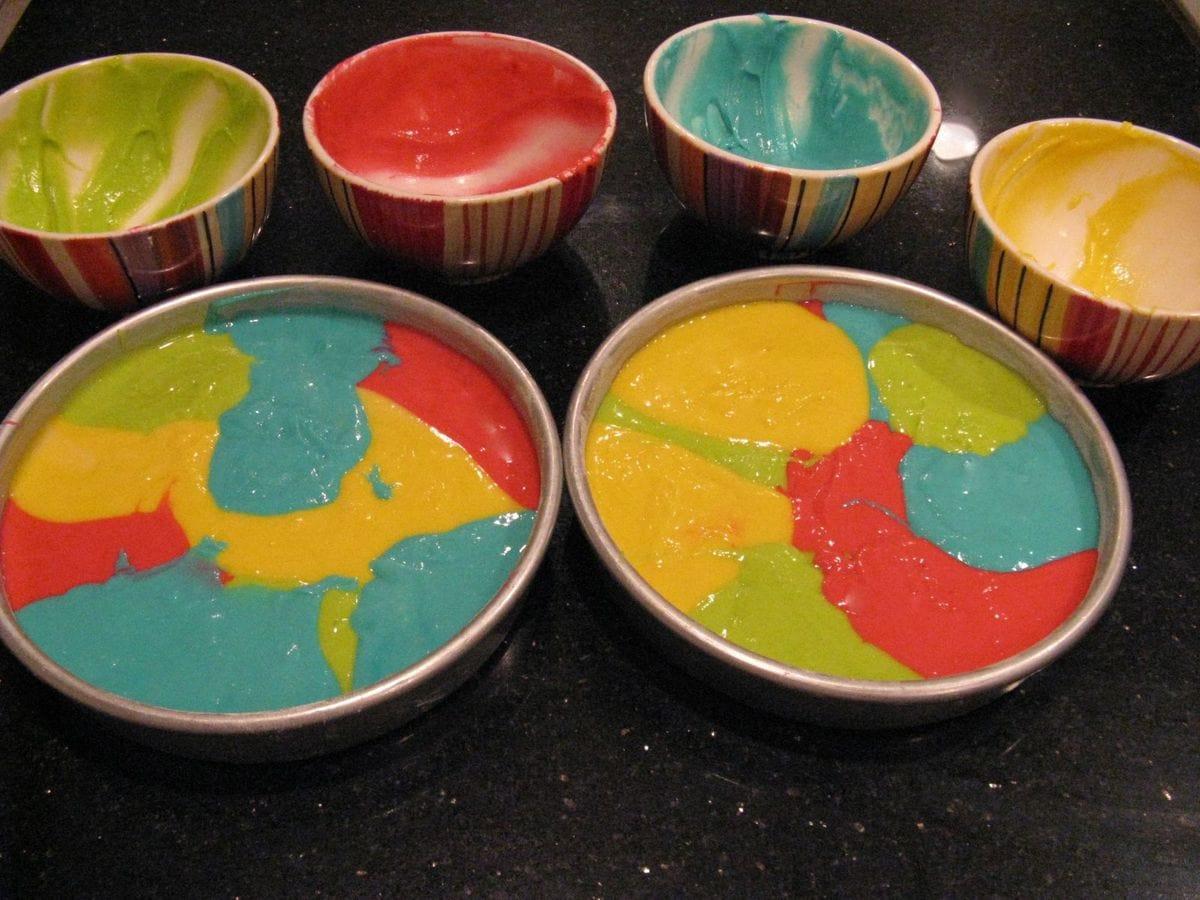 Dye Cake Batter
