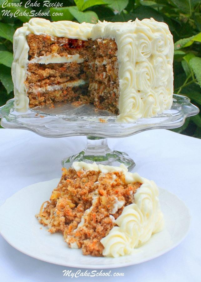 Carrot Cake Recipe by MyCakeSchool.com