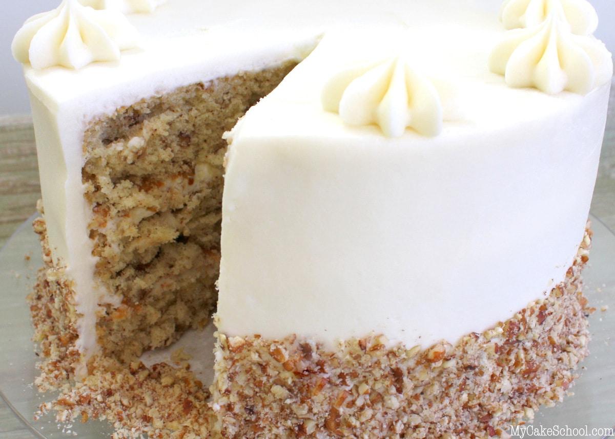 This Classic Italian Cream Cake Recipe is the BEST! MyCakeSchool.com Cake Recipes, Online Cake Tutorials, Videos, and more!