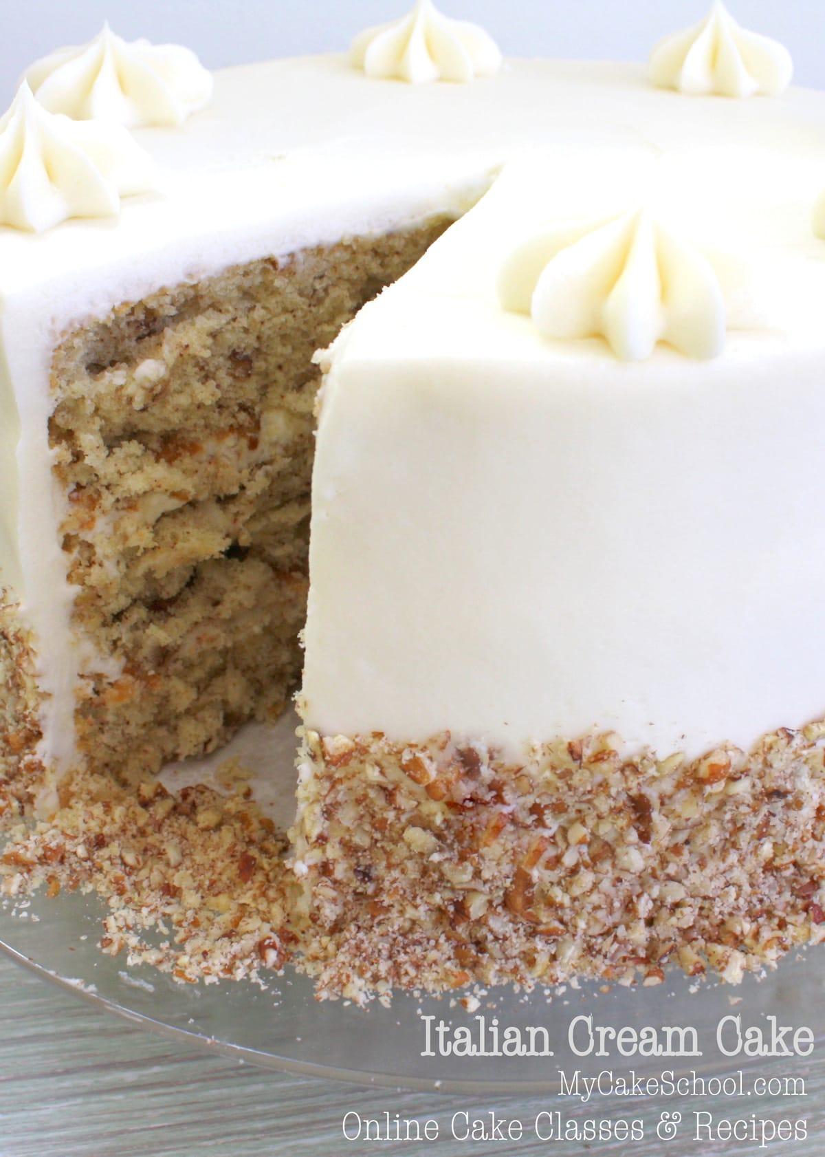 Cake Design Recipe : Italian Cream Cake~Scratch Recipe My Cake School