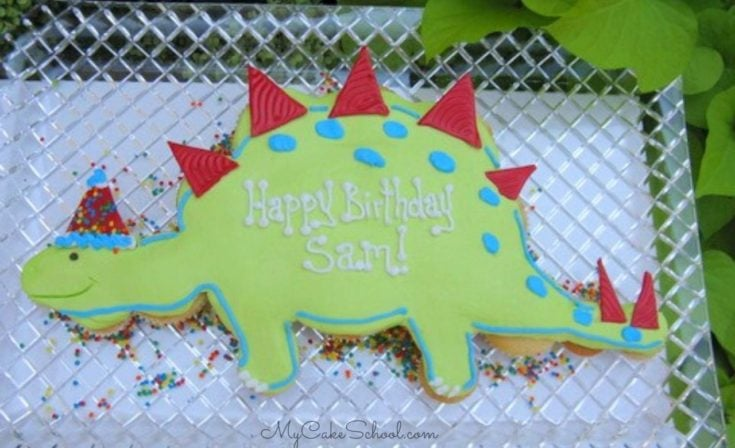 Learn how to make a cute and easy Dinosaur Cupcake cake
