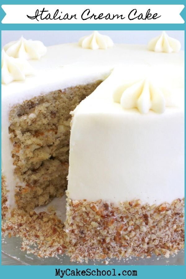 This moist Italian Cream Cake Recipe is the Best!