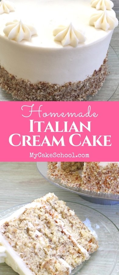 Moist and Delicious Italian Cream Cake Recipe from Scratch by MyCakeSchool.com! This cake is amazing!