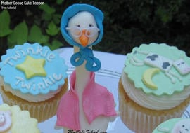 Learn how to make an adorable Mother Goose Cake Topper in this cake tutorial by My Cake School!