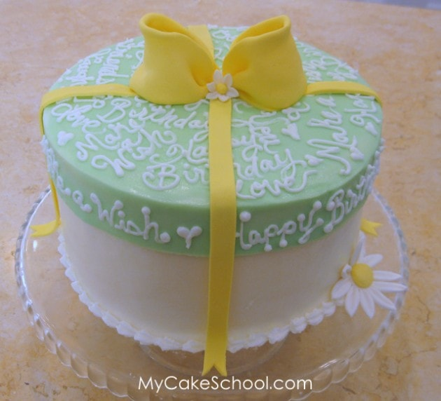 Cake with a Frosted Lid!~ Blog Tutorial