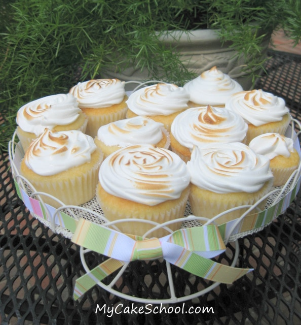 Learn to make meringue for Lemon Meringue Cupcakes in this fabulous My Cake School video tutorial!