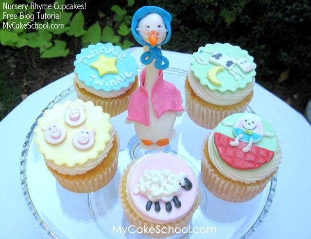 Nursery Rhyme Cupcakes!- Free Blog Tutorial
