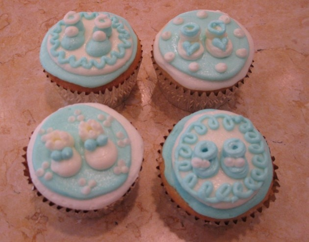 Learn to Pipe Sweet Buttercream Baby Booties for Baby Shower Cupcakes! MyCakeSchool.com video.