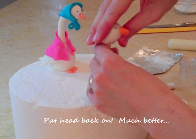 Learn how to make a Mother Goose Cake Topper in this MyCakeSchool.com free cake decorating tutorial!