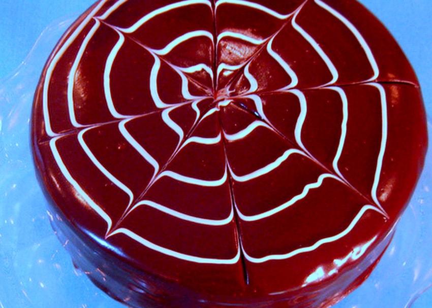 Delicious and Easy Shiny Ganache Glaze for Pouring! Recipe by MyCakeSchool.com.