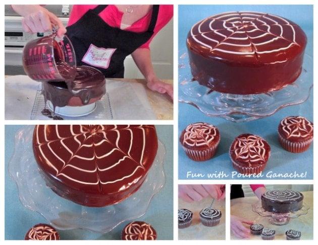 Shiny Poured Ganache Recipe by MyCakeSchool.com! Perfect for glazing cakes and cupcakes!