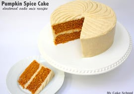 YUM! Delicious Pumpkin Spice Cake- A Doctored Cake Mix Recipe by MyCakeSchool.com!