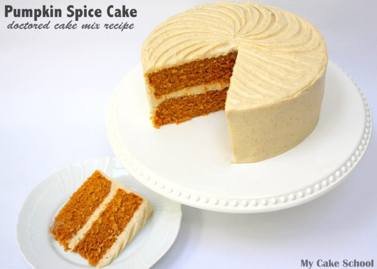Pumpkin Spice Cake~Doctored Cake Mix
