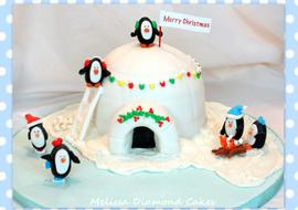 The CUTEST Penguin and Igloo Cake Tutorial! MyCakeSchool.com