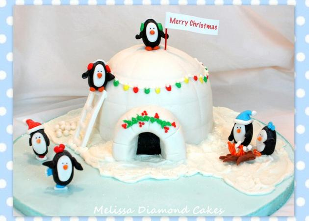 The CUTEST Penguin and Igloo Cake Tutorial! MyCakeSchool.com