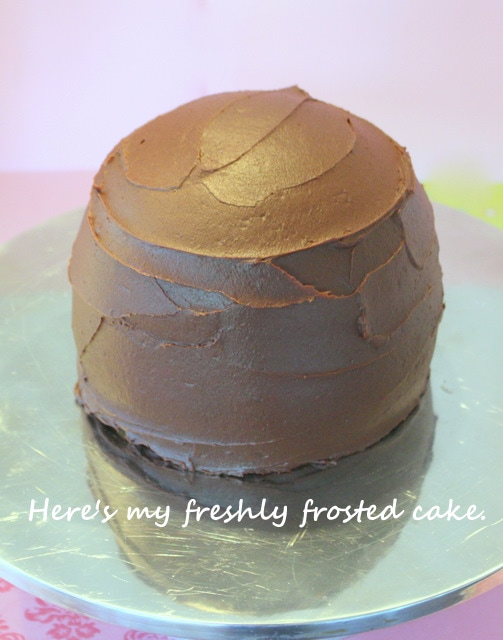 This cake looks like a big piece of chocolate candy! SO fun! Free tutorial by MyCakeSchool.com!