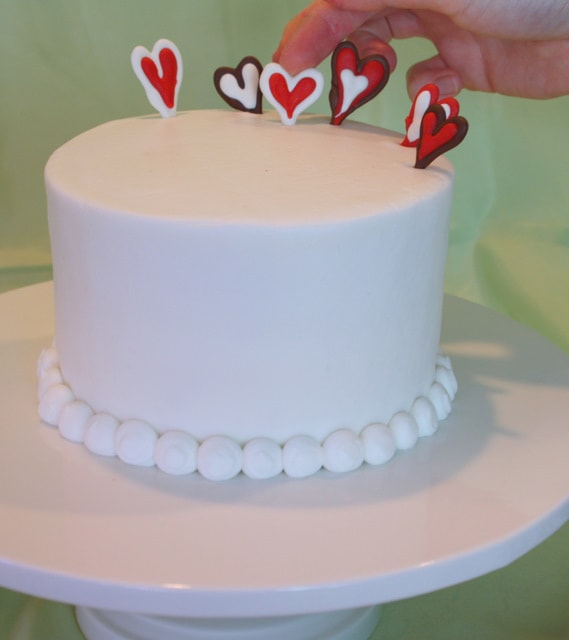 Lots of Love! A Valentine's Day Cake Tutorial by My Cake School with Chocolate Hearts!