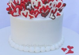 Lots of Love! The most adorable Valentine's Day Cake Decorating Video Tutorial by MyCakeSchool.com! Online Cake Classes & Recipes!