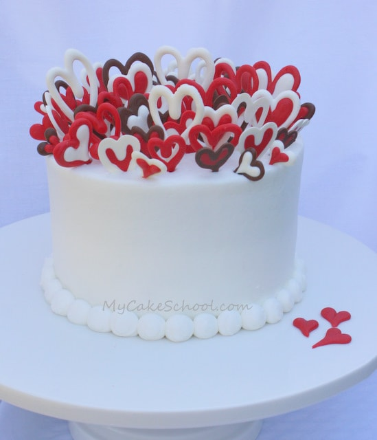 Lots of Love!~ A Valentine's Cake Tutorial