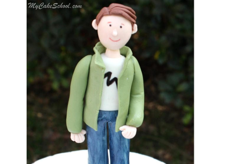 Learn to Create a Gum Paste Man Cake Topper in this MyCakeSchool.com video tutorial!