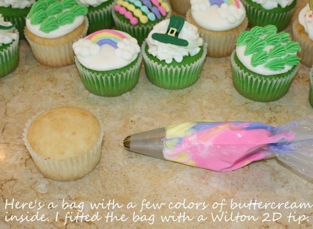 Adorable St. Patrick's Day Cupcake Tutorial by MyCakeSchool.com!