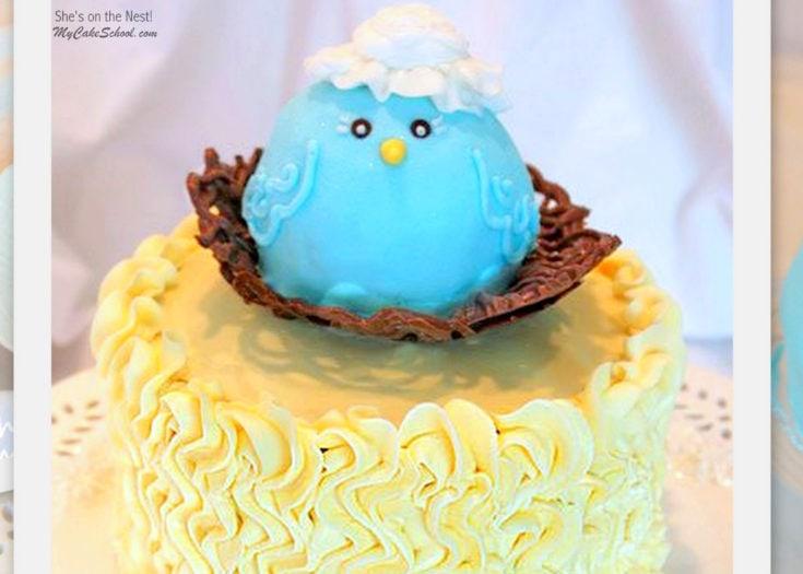 She's on The Nest! Mama Bird Cake Tutorial- Blog