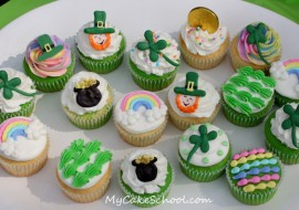 Fun and simple St. Patrick's Day Cupcakes by MyCakeSchool.com! Free Tutorial!