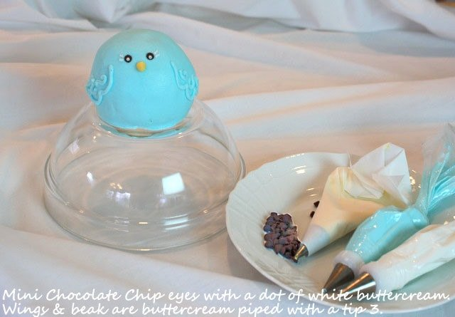 The Cutest Mama Bird Cake Tutorial by MyCakeSchool.com! This free step by step cake tutorial is perfect for baby showers! My Cake School.